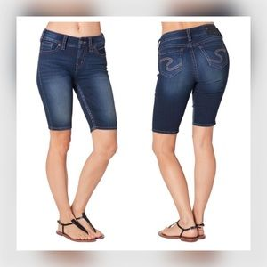 Silver Jeans Mid Rise Dark Suki Denim Shorts 31